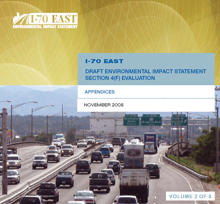The I-70 East DEIS Document: Volume 2 - Appendices (thumbnail of cover)
