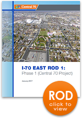 The I-70 East Record of Decision (ROD) Document (thumbnail of cover)