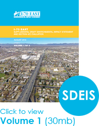 The I-70 East SDEIS Document: Volume 1 (thumbnail of cover)
