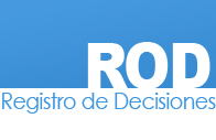 Registro de Decisiones (ROD abreviación en inglés)