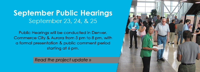 September Public Hearings — September 23, 24, and 25. Click to read the Project Update below