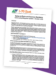 Community Mitigation Update, Notice to Elyria and Swansea Residents, Mitigation Measures being Proposed in the Final EIS (FEIS) - October 2015 (thumbnail)