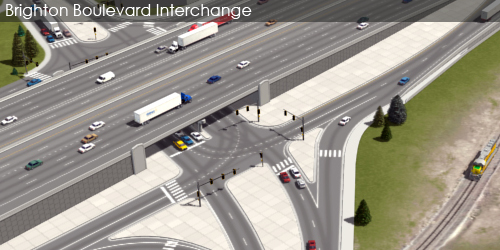 Preliminarily Identified Preferred Alternative Visualization and Animation - Brighton Boulevard Interchange