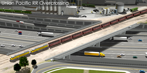 Preliminarily Identified Preferred Alternative Visualization and Animation - Union Pacific RR Overcrossing