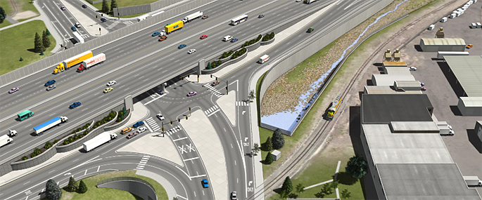 Phase 1 of the Final EIS Preferred Alternative (Partial Cover Lowered Alternative) - I-70/Brighton Boulevard Interchange