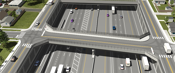 Phase 1 of the Final EIS Preferred Alternative (Partial Cover Lowered Alternative) - I-70/Fillmore Street Overpass