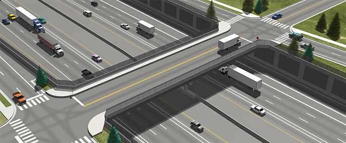 Phase 1 of the Final EIS Preferred Alternative (Partial Cover Lowered Alternative) - I-70/Cook Street Overpass
