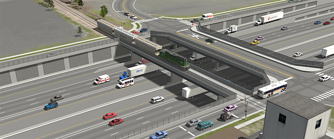 Phase 1 of the Final EIS Preferred Alternative (Partial Cover Lowered Alternative) - I-70/Market Lead RR Overcrossing and I-70/Monroe Street Overpass