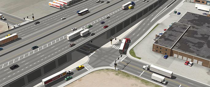 Phase 1 of the Final EIS Preferred Alternative (Partial Cover Lowered Alternative) - I-70/Dahlia Street Interchange