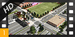 Flyover Animation of the I-70 Cover Park from Columbine Street to Clayton Street - I-70 East EIS Flyover Animation [HD]