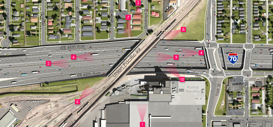 Visualization of the I-70 East Preferred Alternative - UPRR Overcrossing